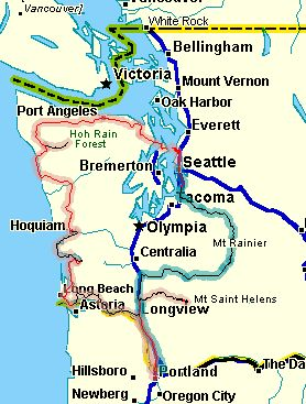 seattle to portland map Scenic Drives Seattle To Portland seattle to portland map