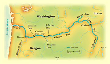 In The Wake Of Lewis And Clark - Us-map-snake-river